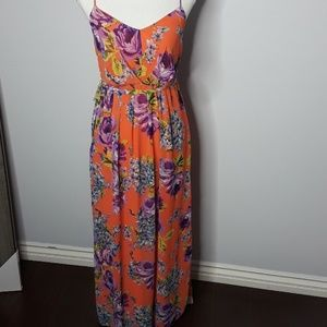 POETRY    FLORAL MAXI  DRESS